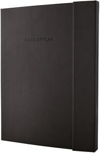 Taccuino Sigel Conceptum Notebook a righe copertina rigida A5, chiusura calamitata. Nero