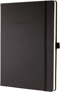 Taccuino Sigel Conceptum Notebook a righe copertina rigida A4+. Nero