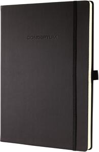 Taccuino Sigel Conceptum Notebook a righe copertina rigida A5. Nero