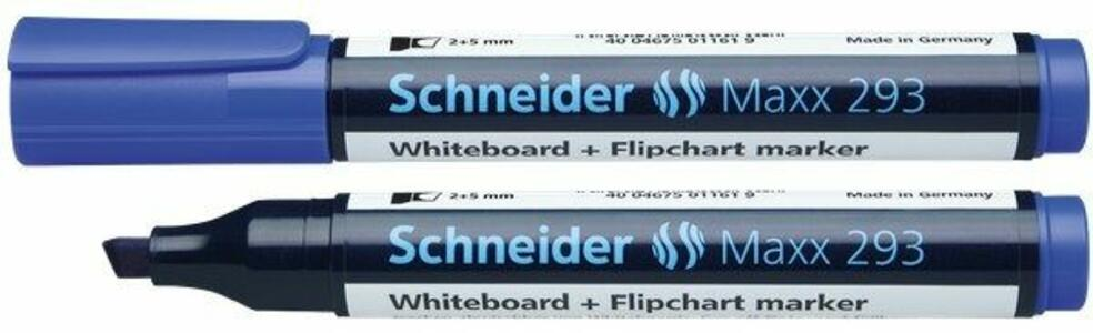 Marcatore per lavagne Schneider Maxx 293 blu punta a scalpello 1-4 mm