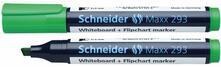 Marcatore per lavagne Schneider Maxx 293 verde punta a scalpello 1-4 mm