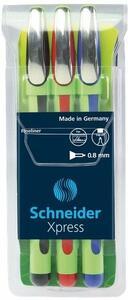 Pennarello Fineliner Schneider Xpress. Confezione 3 colori assortiti
