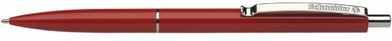 Penna a sfera a scatto Schneider K15 rosso. Confezione 20 pezzi