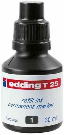 Inchiostro permanente per marcatori Edding nero 30 ml