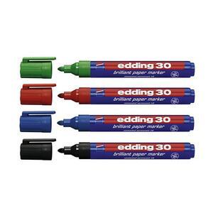 Marcatore permanente universale Edding 30. Confezione 10 colori assortiti