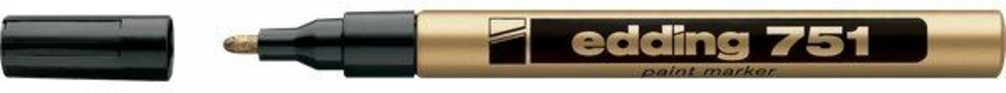 Marcatore permanente a vernice Edding 751 oro punta tonda 1-2 mm