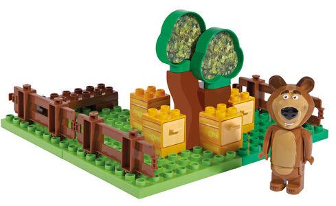 Giocattolo Masha e Orso. Mattoncini. Giardino del Miele 20 pezzi con Orso Simba Toys 0