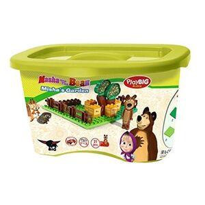 Giocattolo Masha e Orso. Mattoncini. Giardino del Miele 20 pezzi con Orso Simba Toys 1
