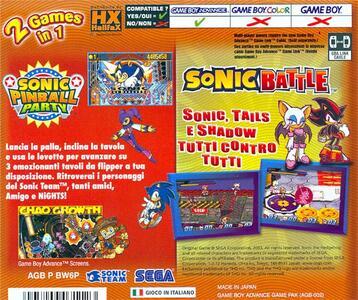 Sonic Pinball + Sonic Battle - 2