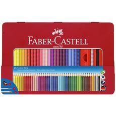Cartoleria Scatola in metallo con 48 matite colorate Colour Grip + accessori Faber-Castell