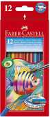 Cartoleria Astuccio in cartone con 12 matite colorate Acquerellabili Faber-Castell
