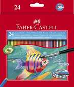 Cartoleria Astuccio in cartone con 24 matite colorate Acquerellabili Faber-Castell