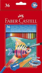 Matite colorate acquerellabili Faber-Castell. Astuccio in cartone 36 colori