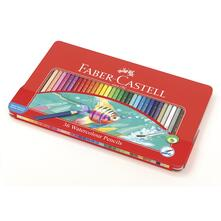 Matite acquerellabili Faber-Castell. Astuccio metallo 36 colori