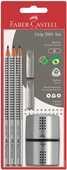 Cartoleria Matita di grafite Faber-Castell Grip 2001 + Gommini Grip salvapunta + Temperamatite Faber-Castell