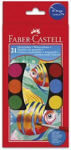 Acquerelli Faber-Castell Godets. Confezione 21 colori 30 mm + Pennello - 2