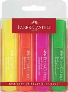 Cartoleria Evidenziatori Faber-Castell Textliner Super Fluo. Busta 4 colori Faber-Castell