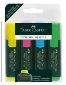 Cartoleria Evidenziatori Faber-Castell Textliner super Fluo. Astuccio 4 colori Faber-Castell