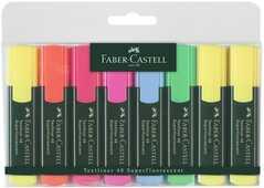 Cartoleria Evidenziatori Faber-Castell Textliner 48 refill. Confezione 6+2 Faber-Castell