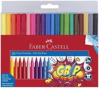 Bustina con 20 pennarelli Grip Colour