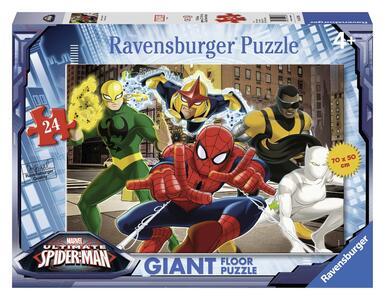 Ultimate Spider-man I Fantastici Supereroi. Puzzle 24 Pezzi Gigante