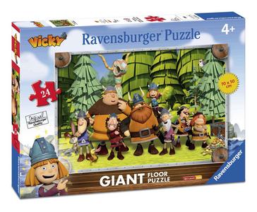Giocattolo Puzzle 24 pezzi Pavimento Wickie Ravensburger 0