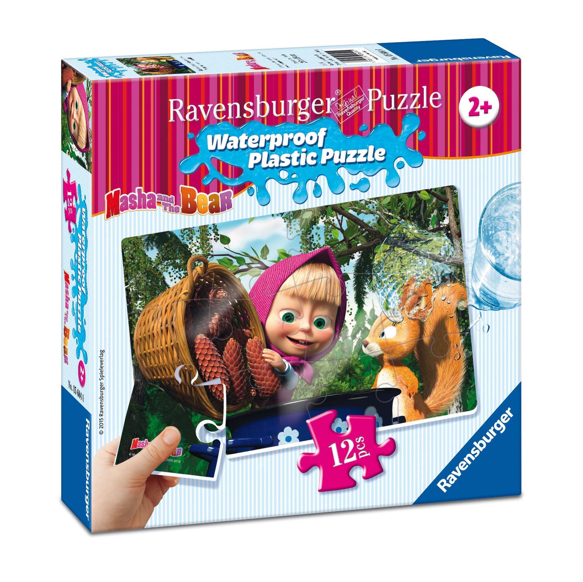 Masha e orso scoiattolo puzzle 12 pezzi in plastica for Masha giocattolo