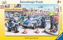 15 Teile Rahmenpuzzle. Einsatz der Polizei. Ravensburger 00.006.037 puzzle 15 pezzo(i)