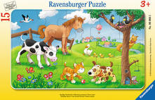 15 Teile Rahmenpuzzle. Knuffige Tierfreunde. Ravensburger 00.006.066 puzzle 15 pezzo(i)