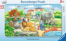15 Teile Rahmenpuzzle. Ausflug in den Zoo. Ravensburger 00.006.116 puzzle 15 pezzo(i)