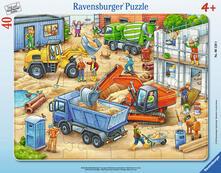 30-48 Teile Rahmenpuzzle. Große Baustellenfahrzeuge. Ravensburger 00.006.120 puzzle 40 pezzo(i)