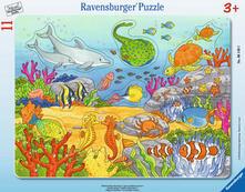 8-17 Teile Rahmenpuzzle. Fröhliche Meeresbewohner. Ravensburger 00.006.149 puzzle Puzzle con formine 11 pezzo(i)