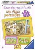 Giocattolo Dolci animali da compagnia Puzzle 3x6 pezzi Ravensburger (06572) Ravensburger