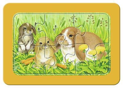 Dolci animali da compagnia Puzzle 3x6 pezzi Ravensburger (06572) - 3