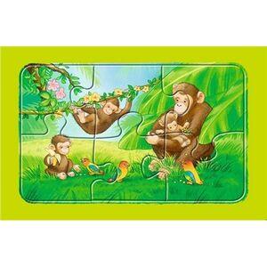 Giocattolo My First puzzle 3x6 pezzi Scimmie, elefanti e leoni Ravensburger 1