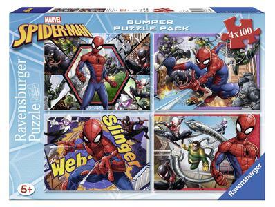 Spiderman Puzzle 4x100 pezzi Ravensburger (06914)