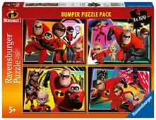 Ravensburger 6975. Bumper Puzzle Pack 4X100 Pz. Gli Incredibili 2