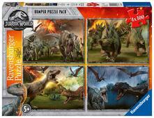 Ravensburger 6976. Bumper Puzzle Pack 4X100 Pz. Jurassic World
