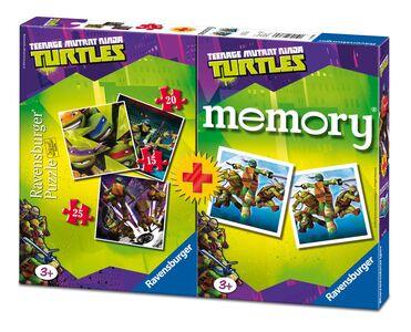 Giocattolo Multipack memory + 3 puzzle Ninja Turtles Ravensburger 0