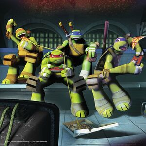 Giocattolo Multipack memory + 3 puzzle Ninja Turtles Ravensburger 3