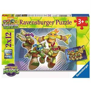 Le Tartarughe Ninja Puzzle 2x12 pezzi Ravensburger (07597)