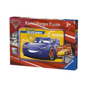 Cars 3 B Puzzle 2x12 pezzi Ravensburger (07614) - 4