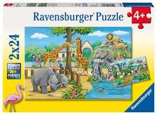 Ravensburger 7806. Puzzle 2X24 Pz. Benvenuti Allo Zoo