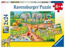 Ravensburger 7813. Puzzle 2X24 Pz. Un Giorno Allo Zoo