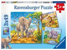 Puzzle 3X49 Pz. I Grandi Animali Della Savana. Ravensburger (8003)