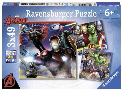 Avengers Puzzle 3x49 pezzi Ravensburger (08017) - 2