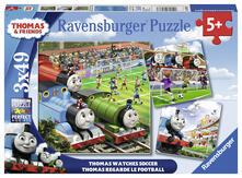 Thomas Watches Soccer Puzzle 3x49 pezzi Ravensburger (08037)