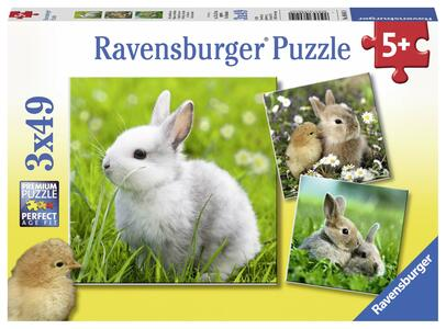 Teneri Coniglieti Puzzle 3x49 pezzi Ravensburger (08041)