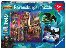 Dragons Ravensburger Puzzle 3x49 pz