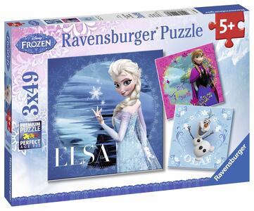Frozen: Elsa, Anna e Olaf. Puzzle 3x49 Pezzi - 3